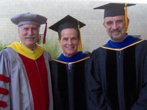 Gene Lucas, Executive Vice Chancellor, UCSB; Bob Duggan, 2009 Science & Math Commencement Speaker; Pierre Wiltzius, Susan & Bruce Worster Dean of Science